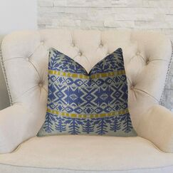 Aztec City Double Sided Throw Pillow Size: 18