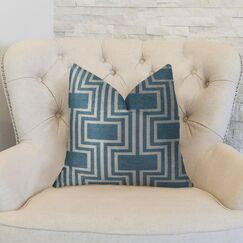 Midnight Conduit Handmade Throw Pillow  Size: 22