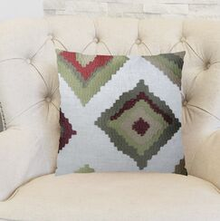 Earth Native-Trail Handmade Linen Throw Pillow Size: 20