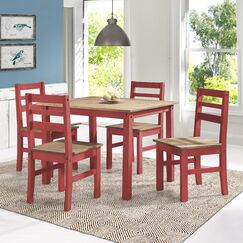 Robin Solid Wood 5 Piece Dining Set Finish: Red Wash