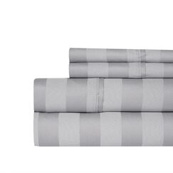 Berwyn 650 Thread Count Cotton 4-Piece Sheet Set Color: Gray, Size: Queen