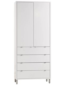 Southville 4 Drawer Armoire Color: MDF Red