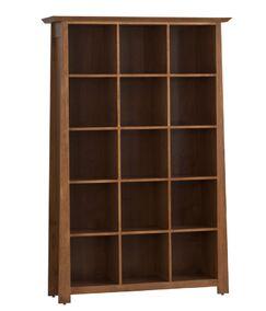 LP Record Multimedia Cabinet with 5 Tiers Color: Maple Espresso