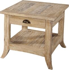 Fairwind End Table with Storage Color: Rustic Bronze