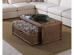 Grand Water Point Coffee Table with Bench Color: 0216-53/Driftwood