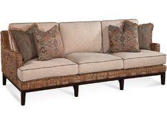 Abaco Island Sofa Upholstery: Gray and Black Textured Plain