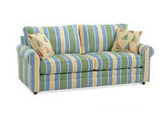 Edgeworth Sofa Upholstery: Blue and Gray and Beige Stripe; 0229-66