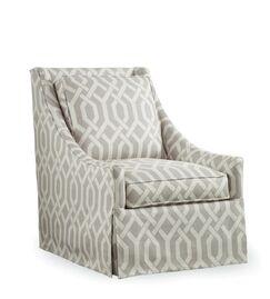Osborne Swivel Armchair Upholstery: Brown and White Stripe; 0261-93