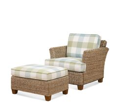 Speightstown Ottoman Upholstery: Blue and White Stripe; 0256-61