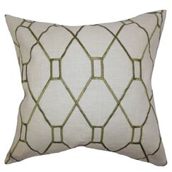 Nevaeh Geometric Throw Pillow Cover Color: Green