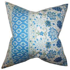 Kairi Floral Bedding Sham Color: Blue, Size: Queen