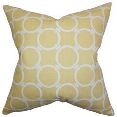 Bechet Outdoor Throw Pillow Color: Saffron Yellow, Size: 22