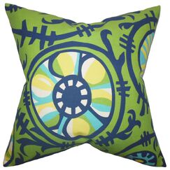 Jakayla Geometric Throw Pillow Color: Green, Size: 20