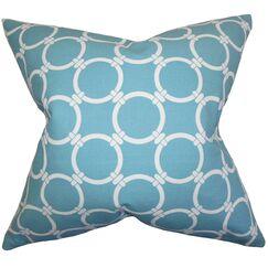 Sontag Geometric Bedding Sham Size: Euro, Color: Blue