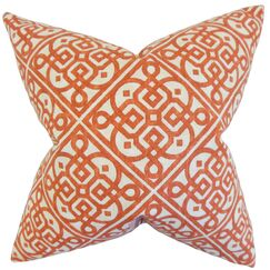 Auden Geometric Cotton Throw Pillow Color: Adobe, Size: 18