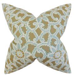 Brinley Geometric Bedding Sham Color: Antique Gold, Size: King