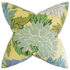 Delaney Floral Throw Pillow Color: Seaside, Size: 18