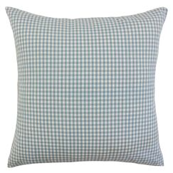 Keats Cotton Throw Pillow Color: Aqua, Size: 24