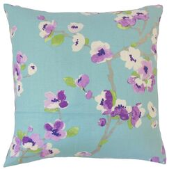Dashania Floral Bedding Sham Size: Queen, Color: Turquoise