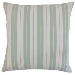 Henley Cotton Throw Pillow Color: Aqua, Size: 22
