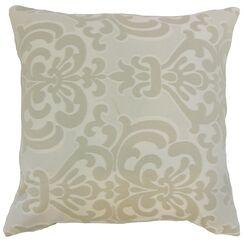 Sarane Damask Throw Pillow Cover Size: 18