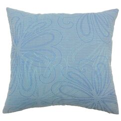 Pomona Floral Throw Pillow Color: Blue, Size: 24