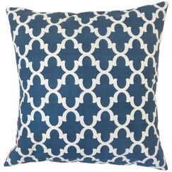 Benoite Geometric Throw Pillow Color: Navy, Size: 24