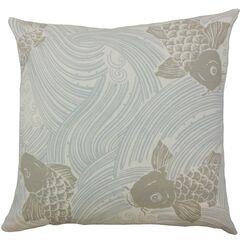 Ailies Graphic Throw Pillow Color: Mist, Size: 18
