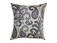 Scebbi Cotton Throw Pillow Color: Steel, Size: 24