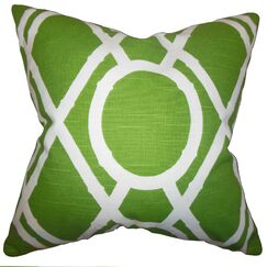 Whit Geometric Bedding Sham Size: Queen, Color: Green
