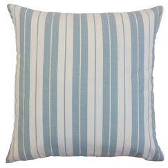 Henley Stripes Throw Pillow Cover Color: Sea