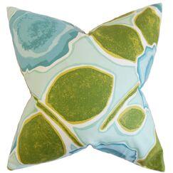 Carlin Geometric Throw Pillow Cover Color: Peacock