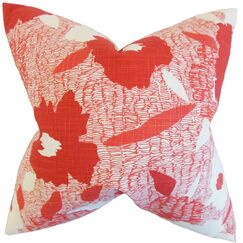 Fife Geometric Cotton Throw Pillow Cover Color: Poppy
