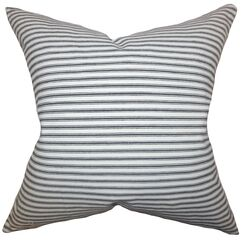 Ferebee Stripes Bedding Sham Size: Queen, Color: Gray