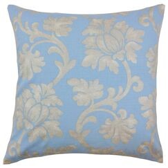 Patrice Linen Throw Pillow Color: Chambray, Size: 20