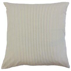 Melinda Stripes Bedding Sham Size: Queen, Color: Beige