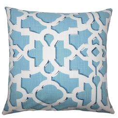 Calixte Geometric Bedding Sham Size: Euro, Color: Sky