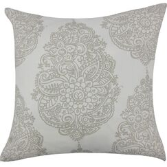 Lanza Damask Cotton Throw Pillow Size: 18