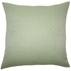 Pertessa Geometric Throw Pillow Color: Green, Size: 22