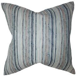Adelheid Stripes Floor Pillow Color: Blue