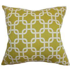 Burkholder Geometric Floor Pillow Color: Summerland Yellow/Natural