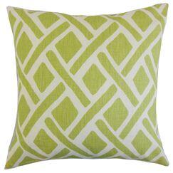 Buono Geometric Floor Pillow Color: New Leaf