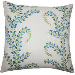 Laverne Floral Floor Pillow Color: Aqua/Green