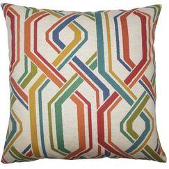 Hammer Geometric Floor Pillow Autumn