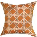 Daniele Cotton Throw Pillow Color: Orange, Size: 20