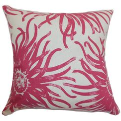 Ndele Floral Throw Pillow Color: Rosewood, Size: 22