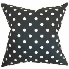Nancy Polka Dots Bedding Sham Size: King, Color: Black/White