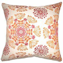 Jamesie Floral Throw Pillow Color: Flame, Size: 22