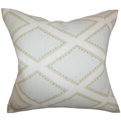 Alaric Geometric Linen Throw Pillow Cover Color: Opal