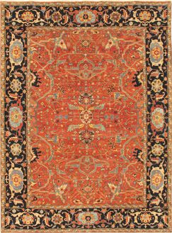 Ferehan Hand-Knotted Wool Rust Area Rug Rug Size: Rectangle 2' x 3'